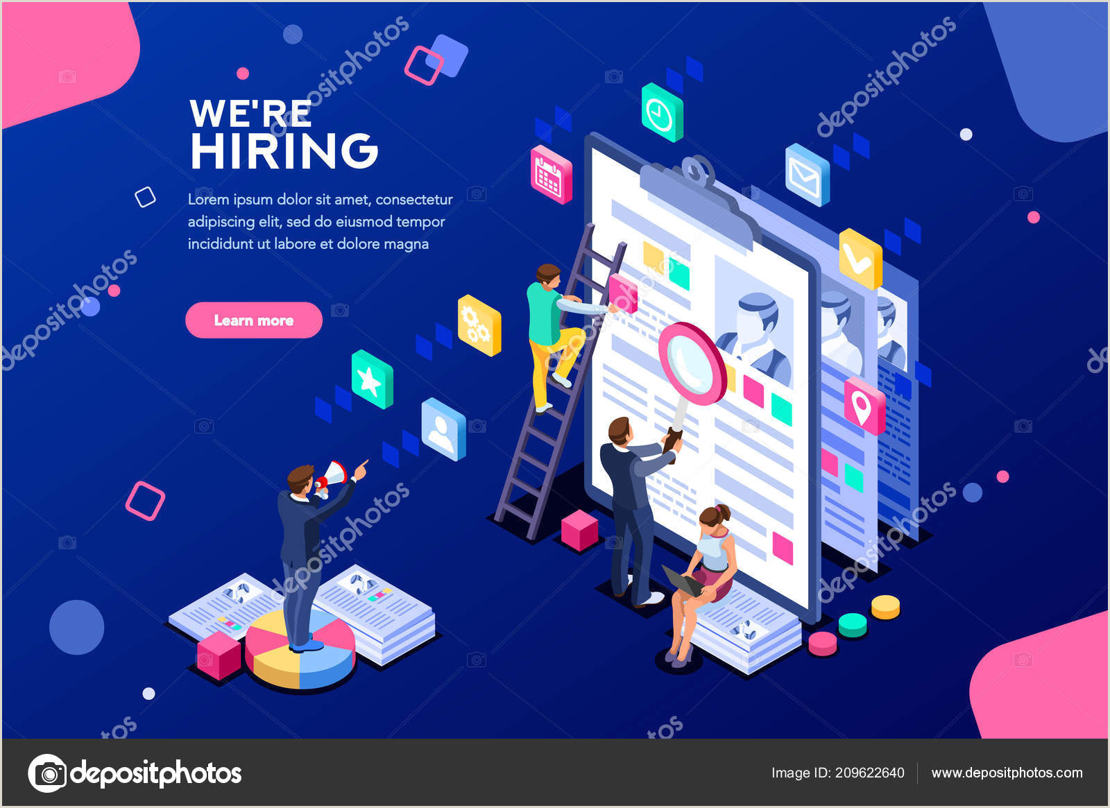 Career Fair Banners Job Presentation Fair Banner Page Choose Career Or Interview A Candidate Job Agency Human Resources Creative Find Experience Work Concept With