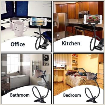 Cheap Picture Stands Buy 1 Get 1 Free Nitman Lazy Stand Mobile Cell Phone Neck Holder Long Arm Foldable Car For Bedroom Side Table Fice Kitchen