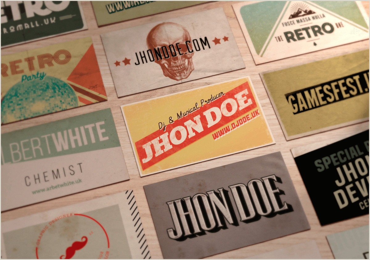 Classic Business Cards 50 Vintage Business Cards In Psd & Ai Designshock