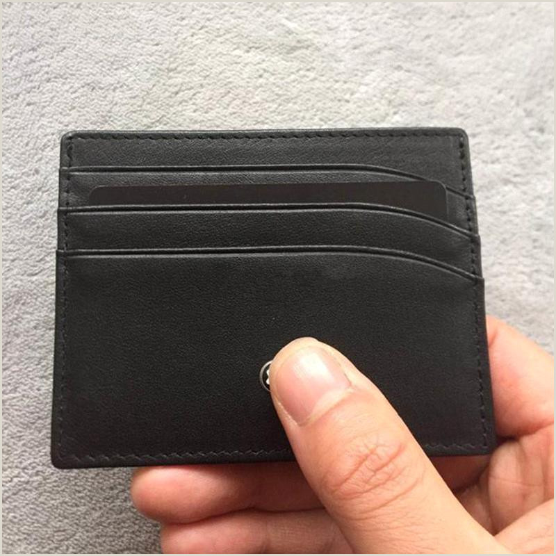 Classic Business Cards Classic Black Leather Brand Mb Id Card Case Luxury Id Card Case For Man Business Fashion Thin Coin Purse Pocket Bag Slim Wallets702a Buy Wallets