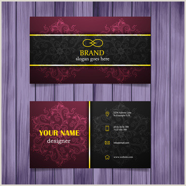 Classic Business Cards Vintage Style Business Card Free Vector 41 871