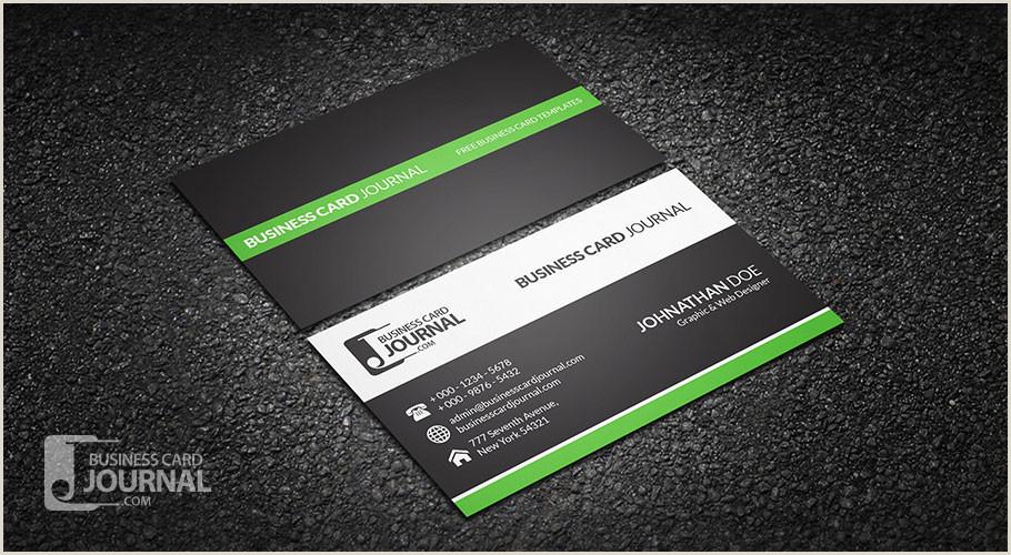 Clean Business Card Design Free Clean & Professional Corporate Business Card Design
