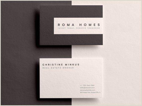 Clean Business Card Design Real Estate Business Card Business Card Template Real