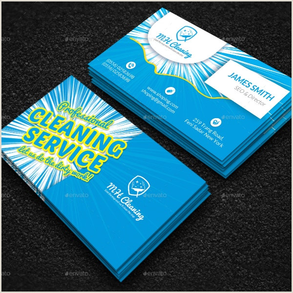 Cleaning Services Business Cards Examples 10 Cleaning Business Card Templates Illustrator Pages