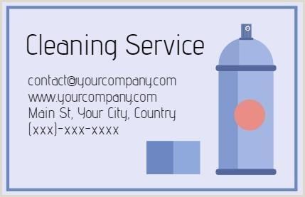 Cleaning Services Business Cards Examples Cleaning Business Card Templates That You Can Edit In Minutes