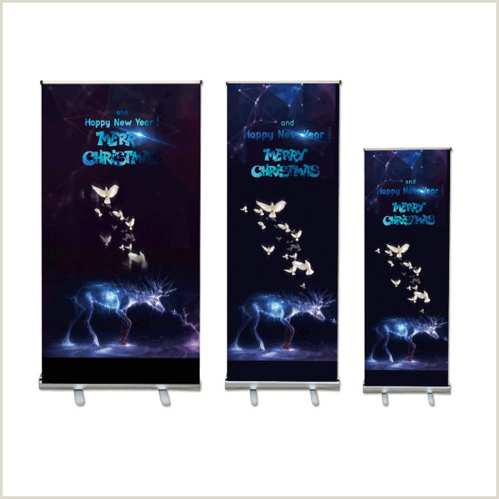 Collapsible Banner Stands Aluminum Retractable Banner Stand Broad Base Roll Up Banner For Advertising