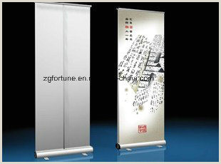Collapsible Banner Stands [hot Item] Trade Show Retractable Roll Up Banner Stand Aluminium Roll Up Stand Clip Type