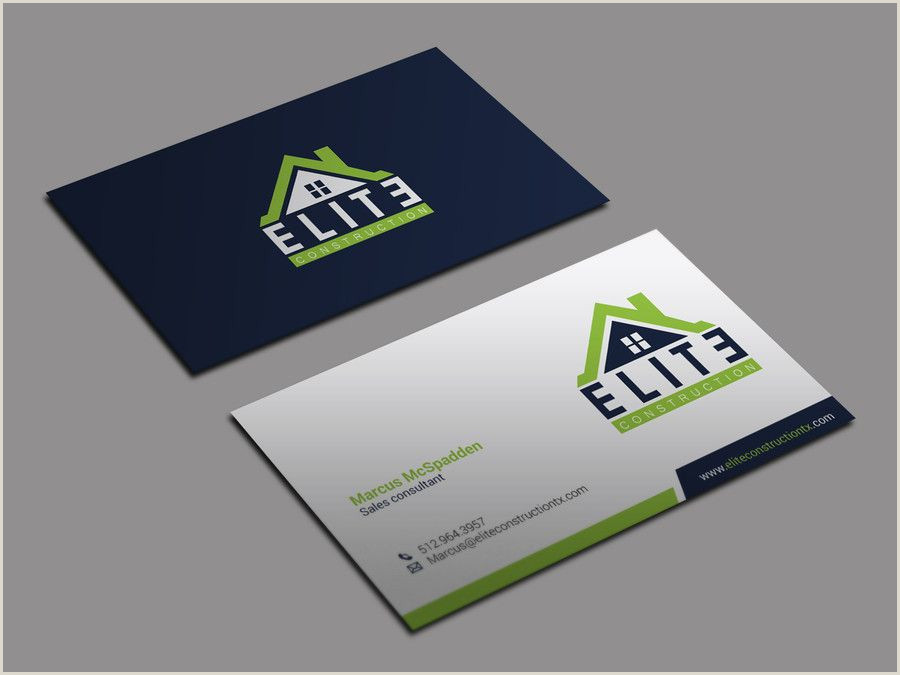 Company Business Cards Sample Construction Pany Business Cards