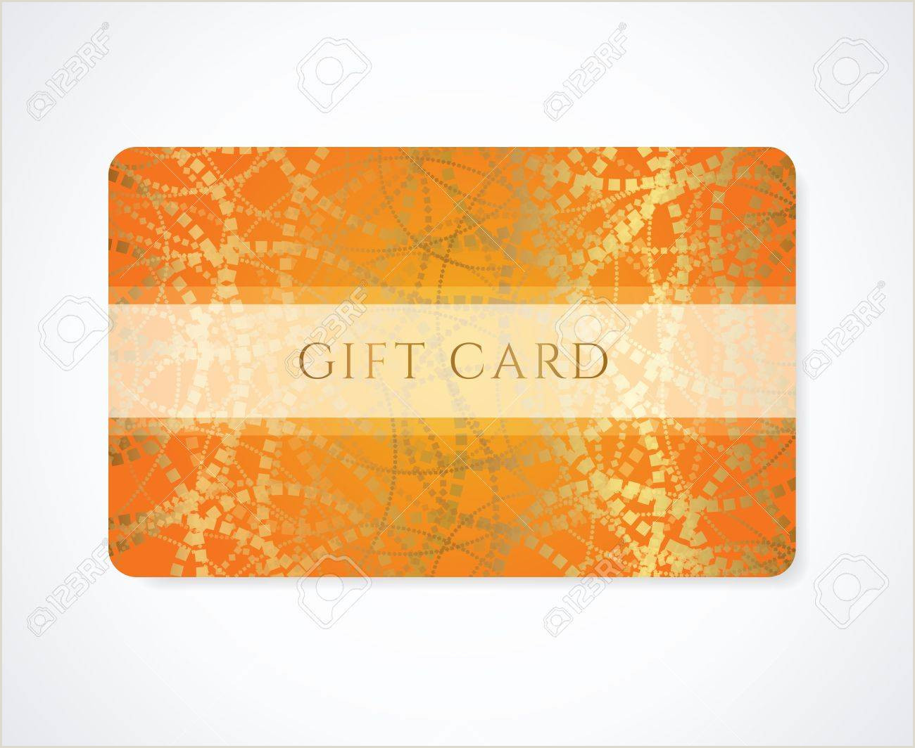 Complimentary Card Samples Bright Orange Gift Card Business Card Discount Card Template