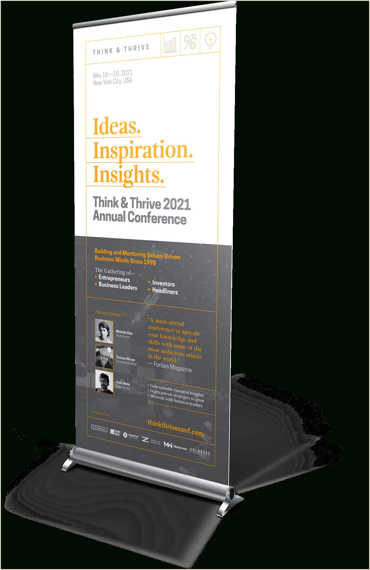 Conference Banner Stands Bud Roll Up Banner