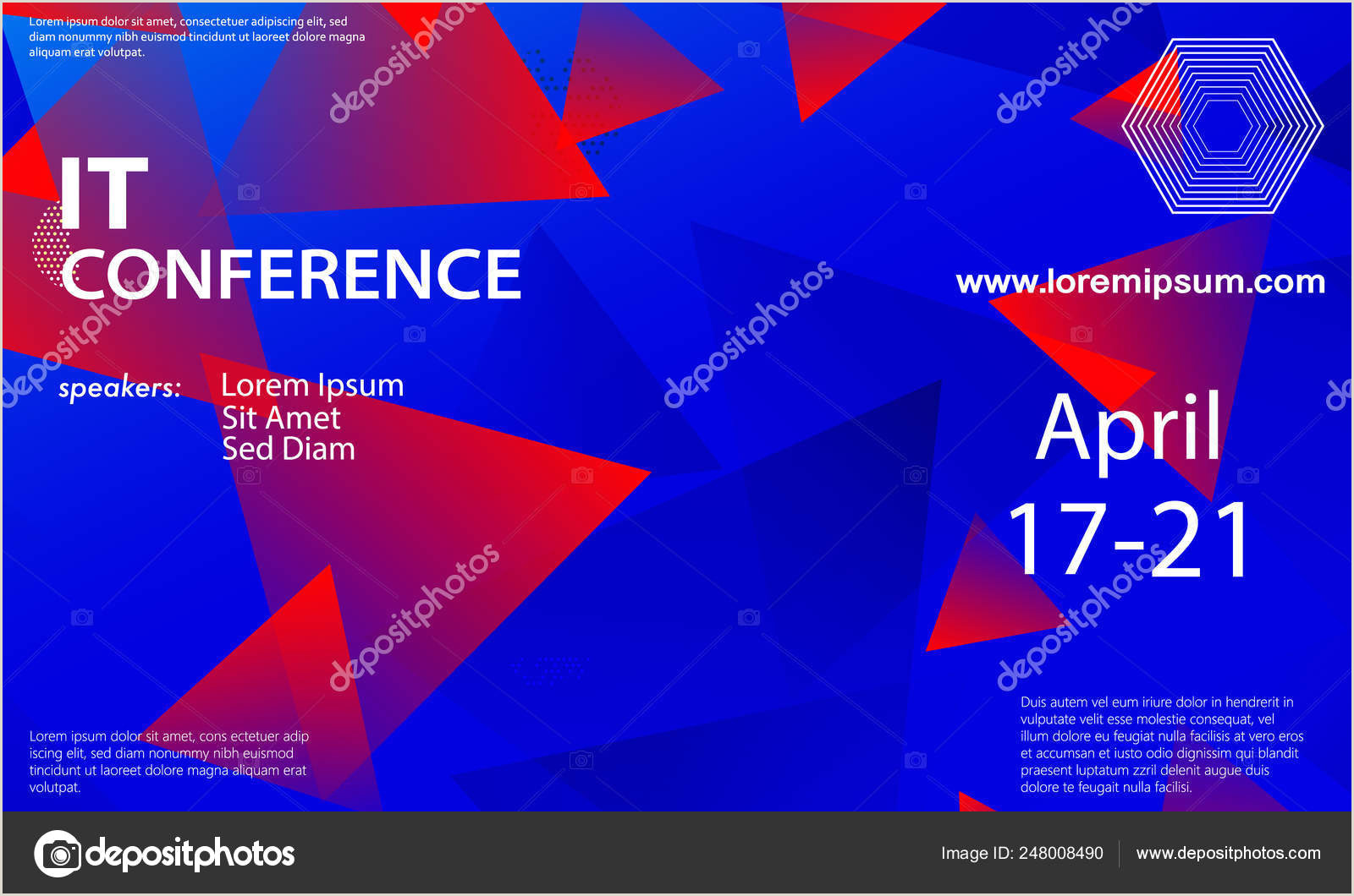Conference Banners Design Conference Announcement Design Template — Stock Vector