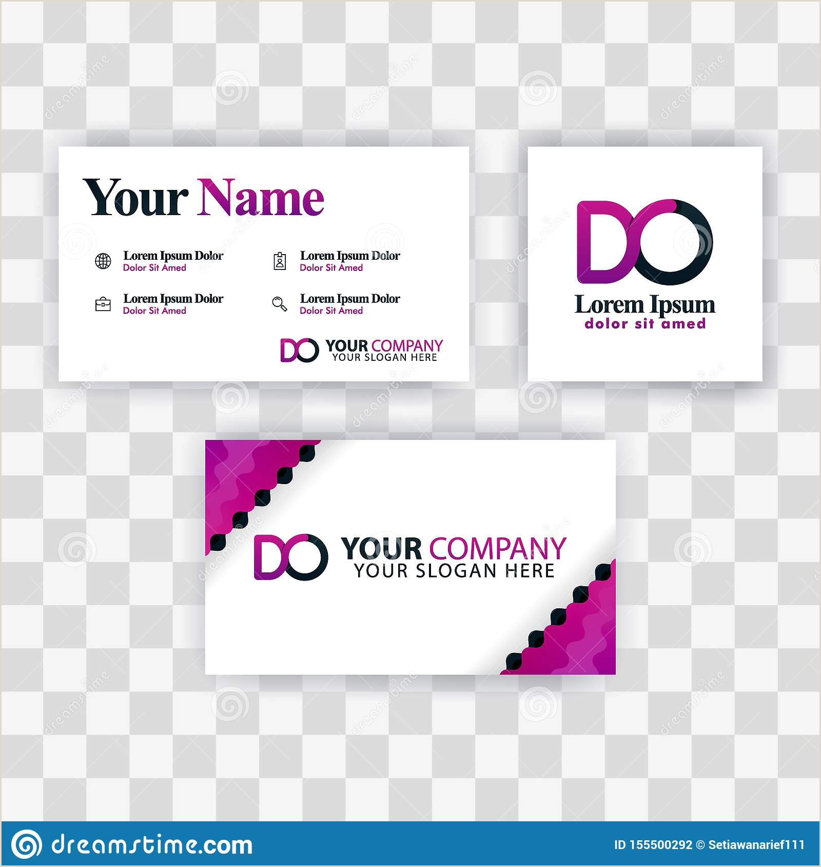 Cool Buisness Card Designs Clean Business Card Template Concept Vector Purple Modern