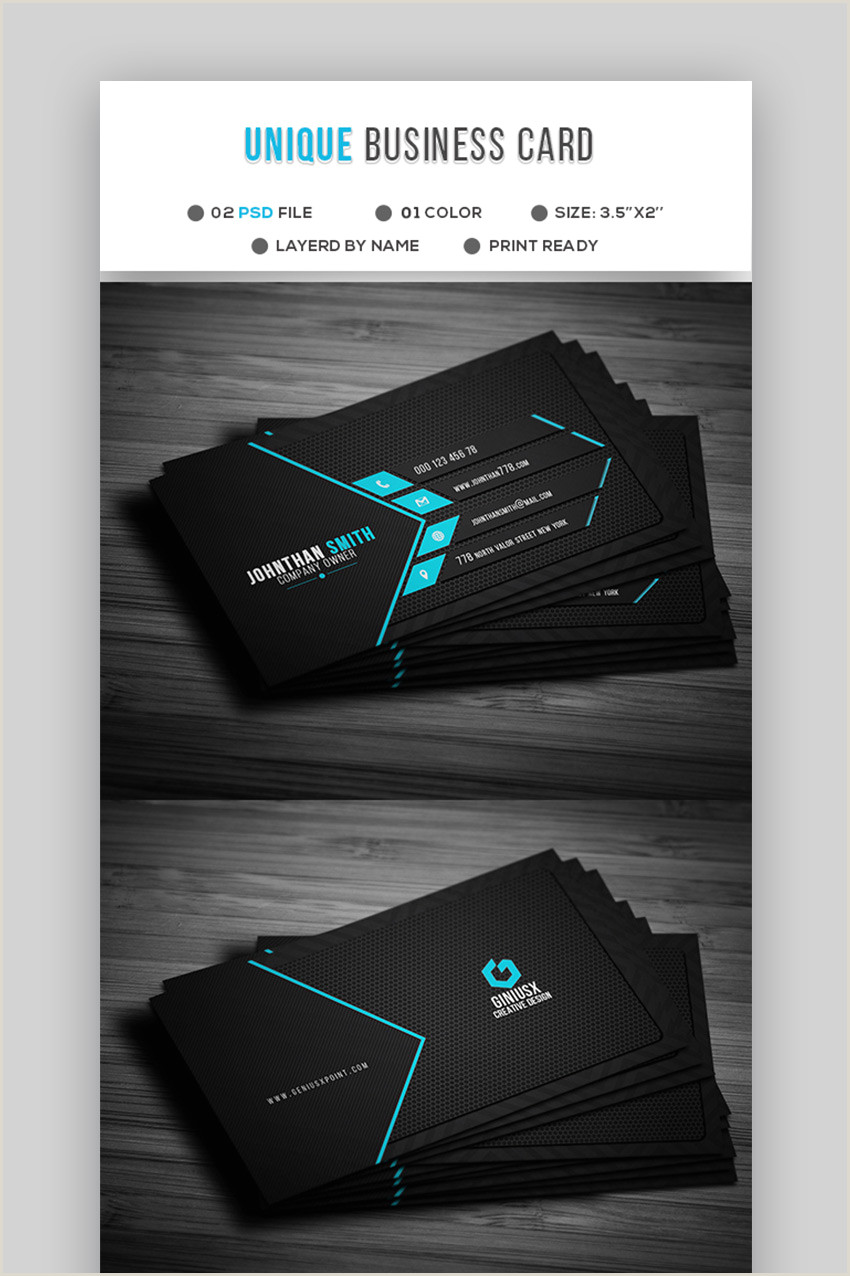 Cool Business Card Templates 18 Free Unique Business Card Designs Top Templates To