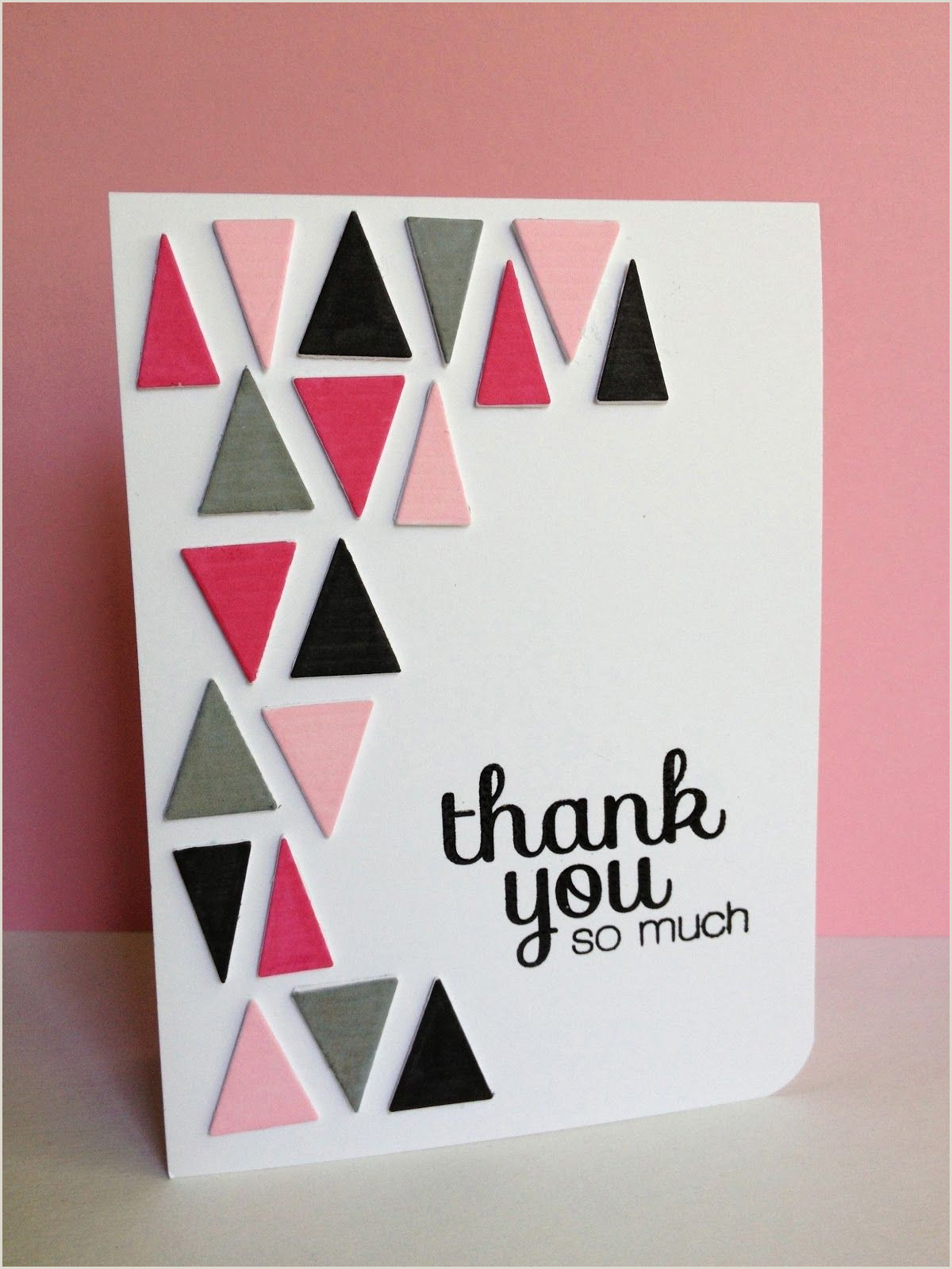 Cool Thank You Card Designs I M In Haven Triangle Filled Thanks