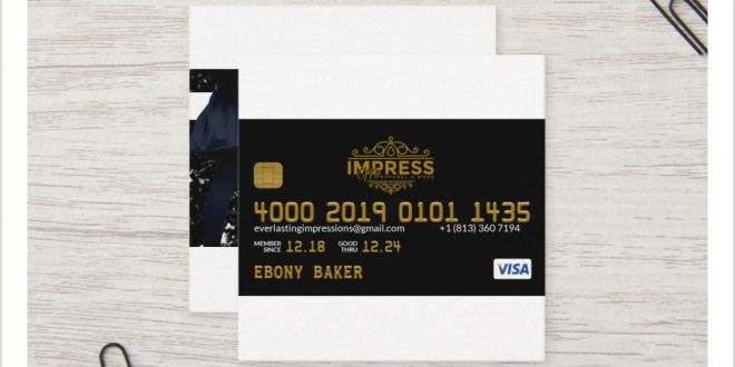 Create and Print Your Own Business Cards Impress Me Business Card Black