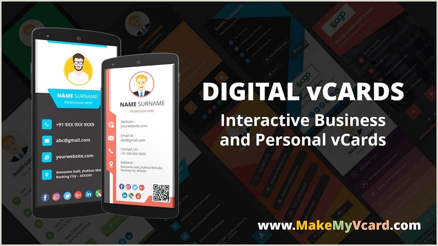 Create Visiting Card Digital Business Card Make My Vcard