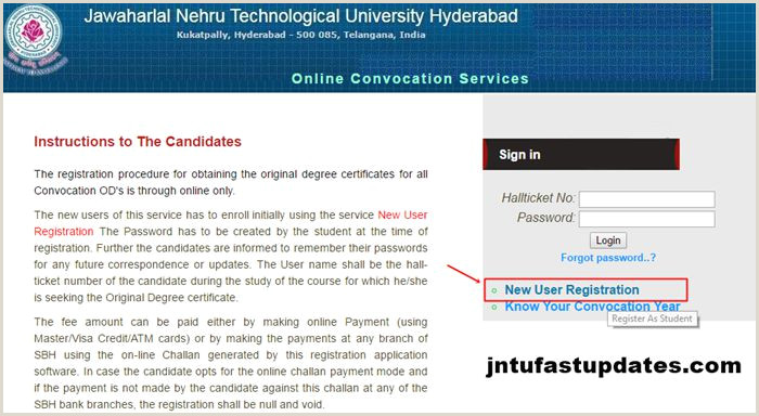 Create Visiting Card Jntuh Od Apply Line 2020 Original Degree Application