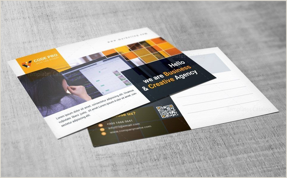 Create Your Own Business Card Template Marketing Postcard Design Template