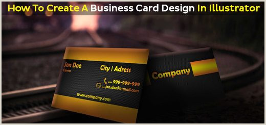 Creating A Business Card In Illustrator How To Create A Business Card Design In Illustrator