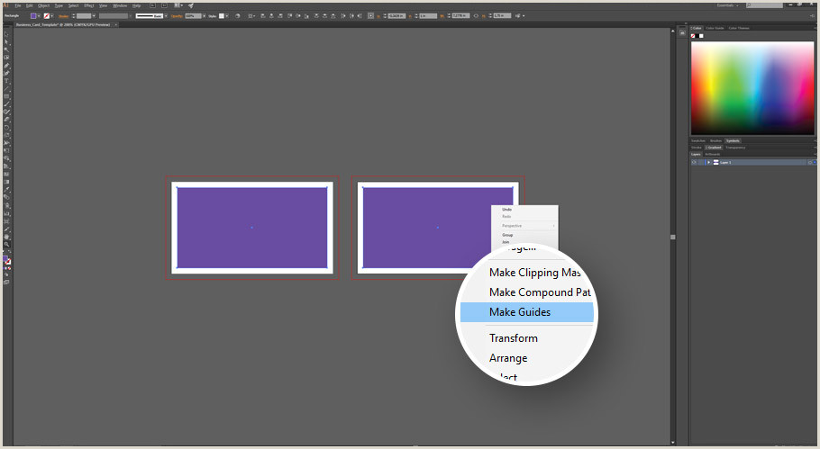 Creating A Business Card In Illustrator How To Make A Business Card Template With Bleeds In Adobe