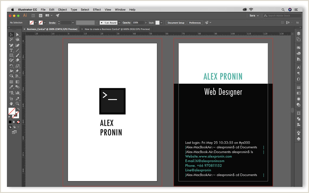 Creating A Business Card In Illustrator Step By Step Guide On How To Create A Business Card In Adobe