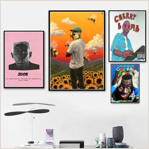 Creative Business Cards Artist Poster Prints Tyler The Creator Flower Boy Igor Rap Music Album Star Art Canvas Painting Wall Living Room Home Decor Vova