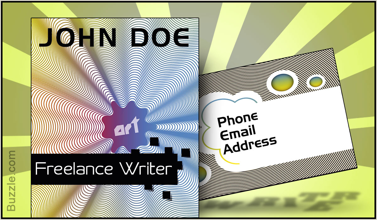 Creative Business Cards For Writers 10 Cool And Innovative Business Card Ideas For Writers