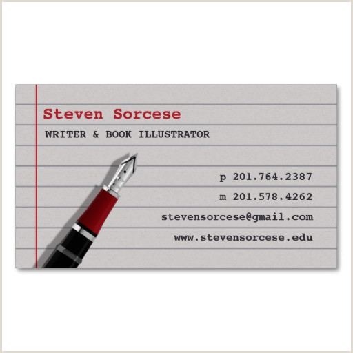 Creative Business Cards For Writers Writers & Content Developers Business Card Examples