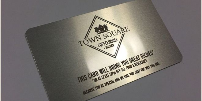 Creative Marketing Business Cards Business Card On A Silver Metal that S Laser Engraved