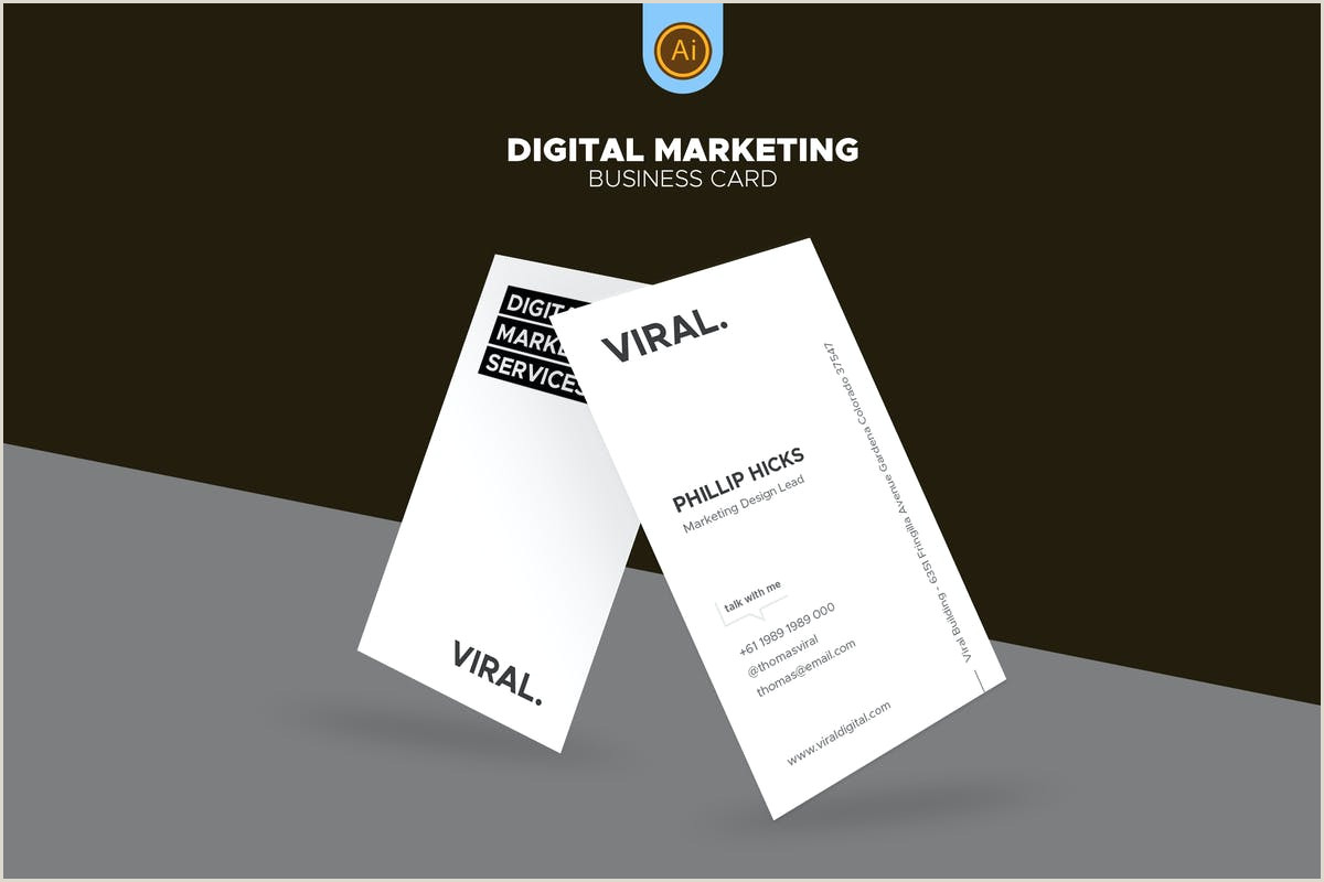 Creative Marketing Business Cards Digital Marketing Business Card 07 By Afahmy On Envato Elements