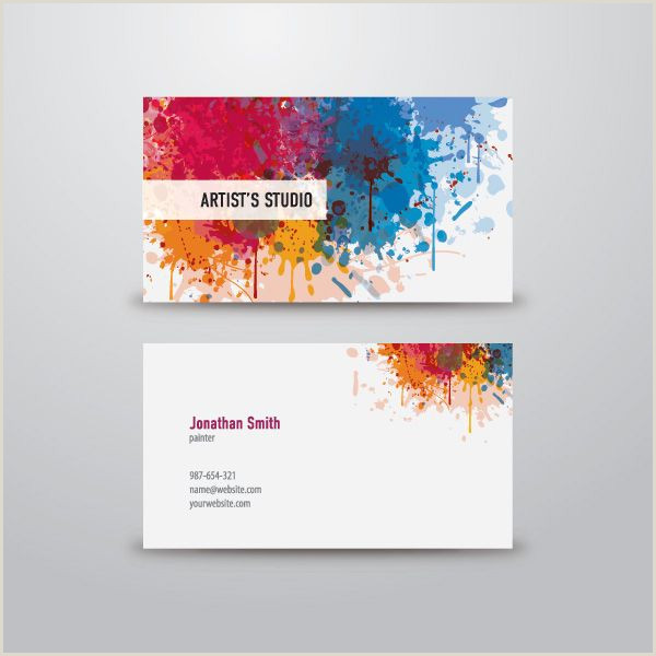 Creative Unique Painter Business Cards Artist Business Card Vector Graphic — Dryicons