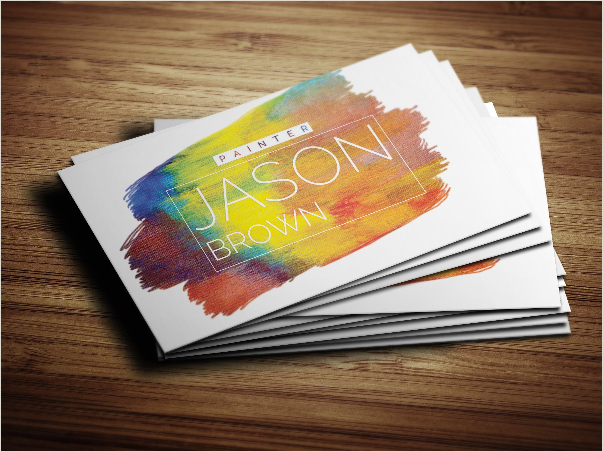 Creative Unique Painter Business Cards Creative Painter Business Card