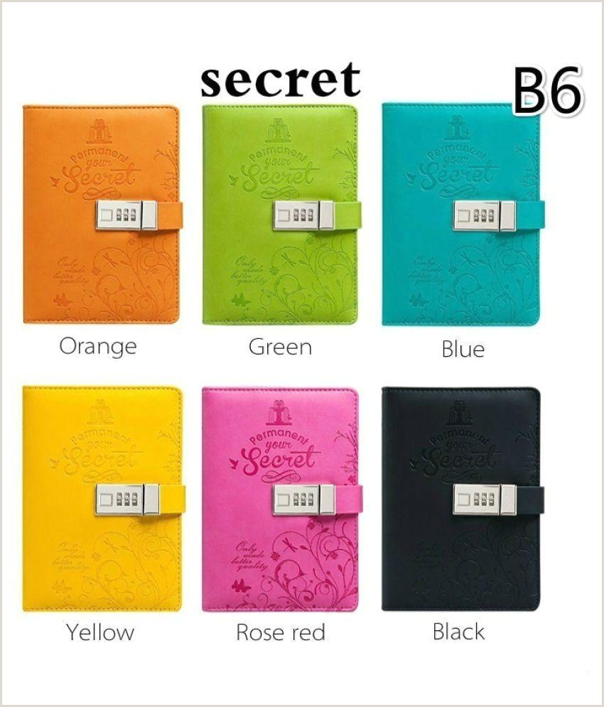 Creativebusiness A6 A5 Creative Business Affairs Notebook Password Lock Journal Diary Secret Garden Book Fice & School Supplies 6 Colors
