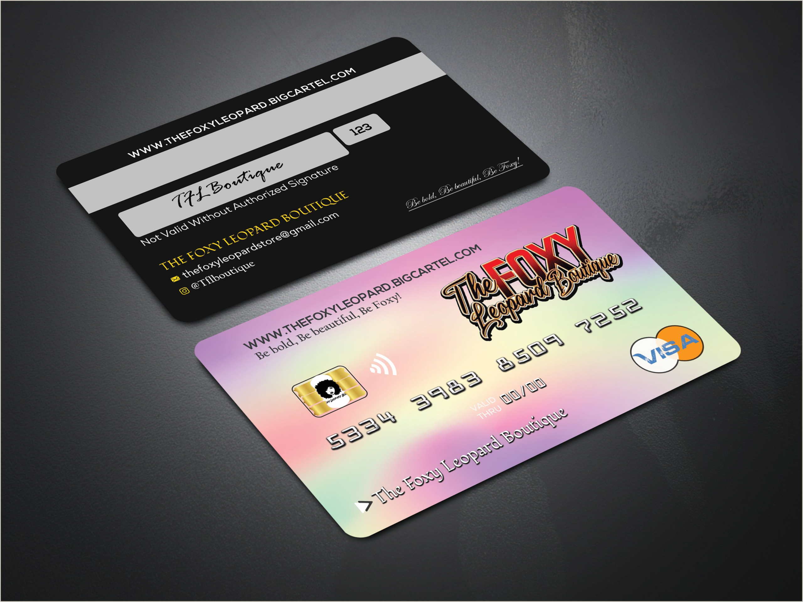 Credit Card Business Card Design Credit Card Design For Beauty Business In 2020