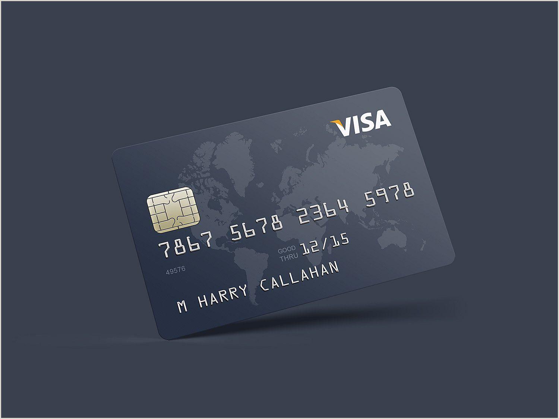 Credit Card Business Card Design Realistic Credit Card Mockup