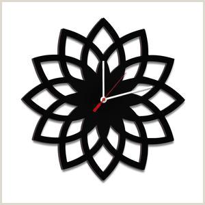 Credit Card Logos Black And White Arroba Logo In Black Color Wooden Wall Clock – Wallmantra