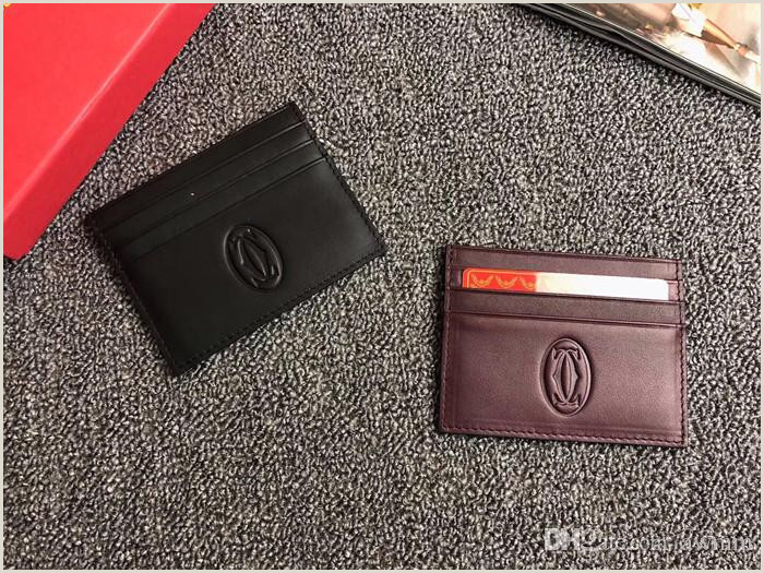 Credit Card Logos Black And White Business Credit Card Card Holder Black Genuine Leather Magic Wallet Men Women Thin Bank Id Card Case Trend Logo Fashion Bag Nice Wallets Unique