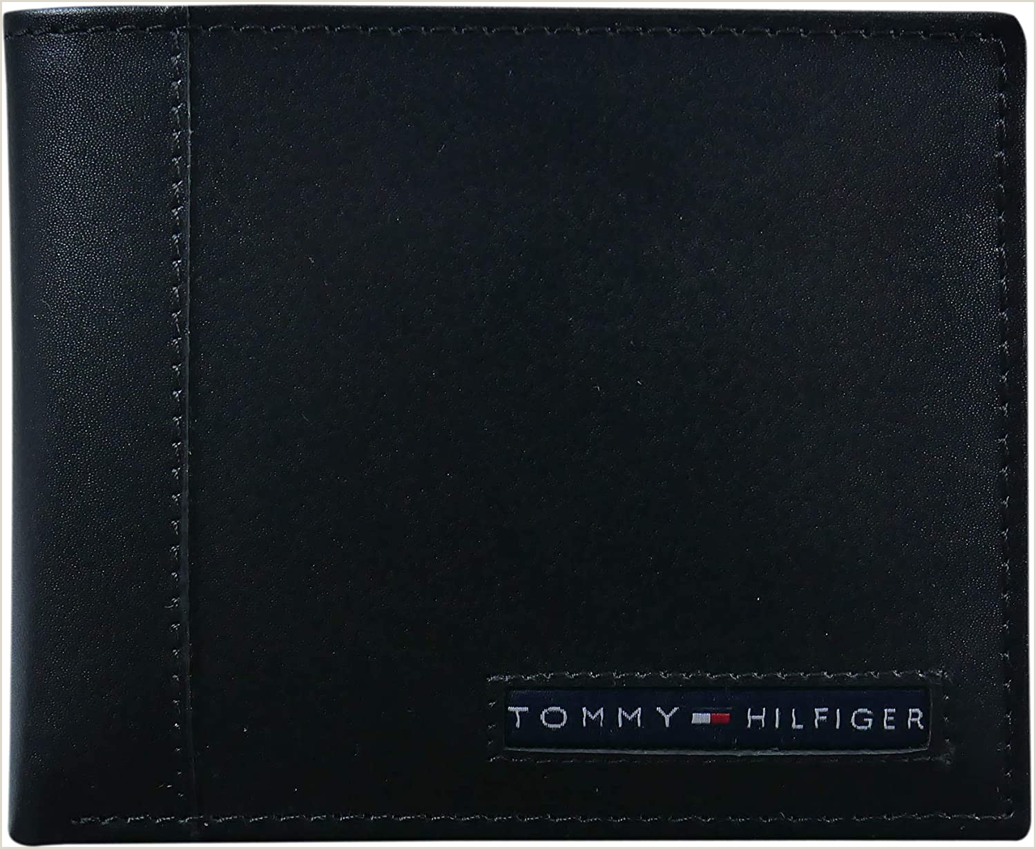 Credit Card Logos Black And White Tommy Hilfiger Men S Leather Wallet – Slim Bifold With 6 Credit Card Pockets And Removable Id Window Black Cambridge E Size