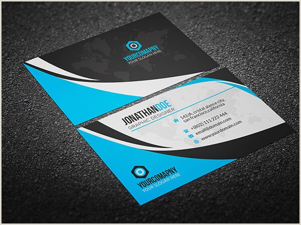 Credit Card Looking Business Cards 75 Free Business Card Templates That Are Stunning Beautiful