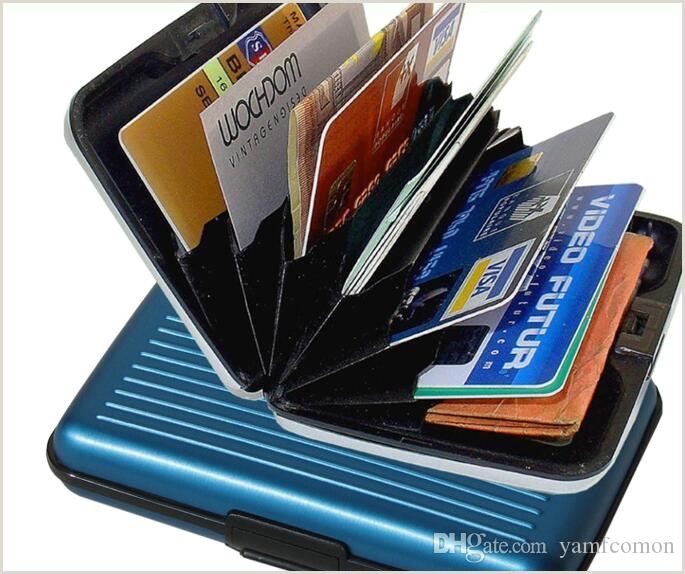 Credit Card Looking Business Cards Aluminum Business Id Credit Card Wallet Waterproof Rfid Card