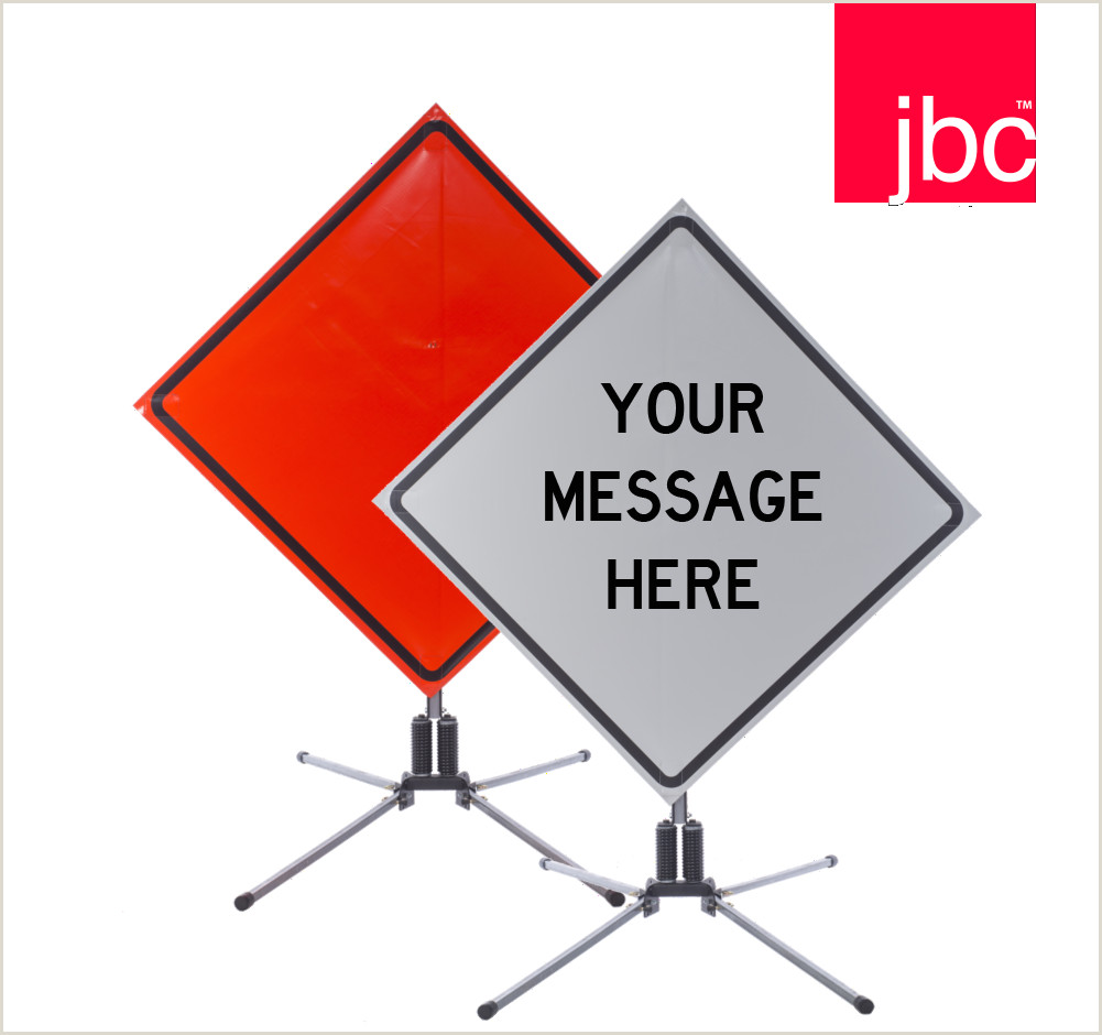 Custom Roll Up Signs Wel E To Jbc Safety Plastic