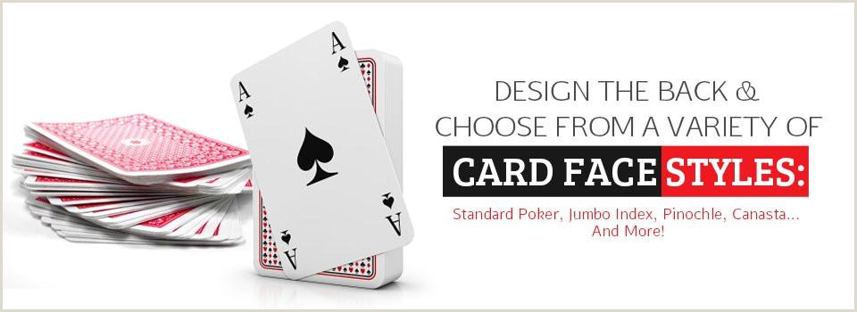 Customized Playing Cards No Minimum Custom Playing Cards Personalized Playing Cards