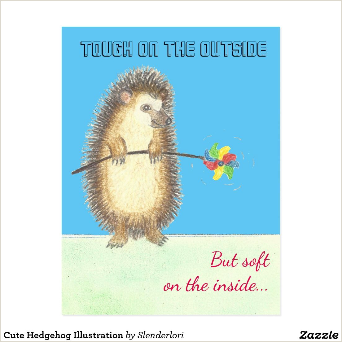 Customized Playing Cards No Minimum Cute Hedgehog Illustration