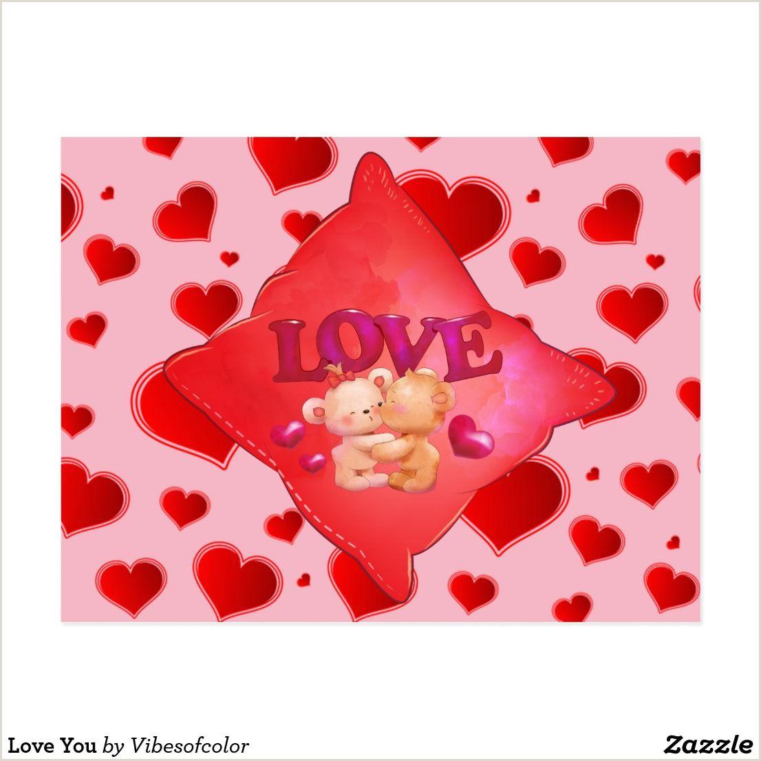 Customized Playing Cards No Minimum Love You Postcard Zazzle