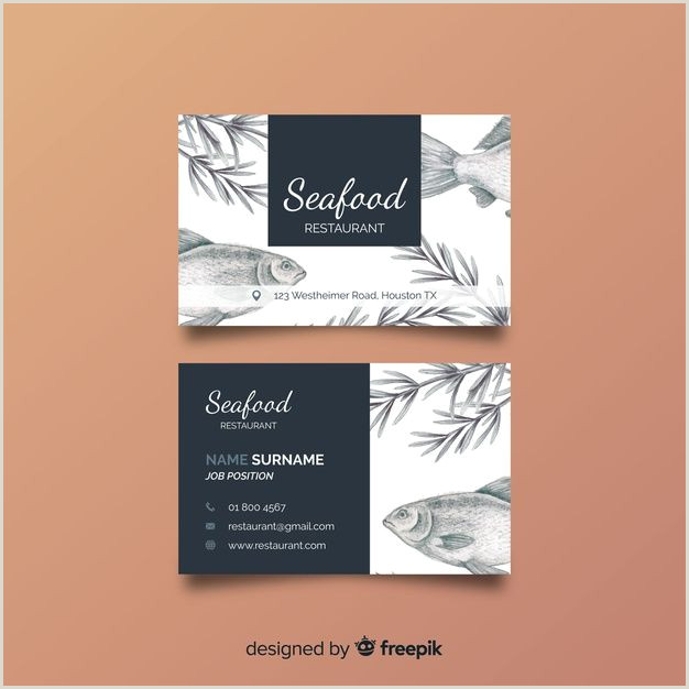 Cute Business Card Download Hand Drawn Restaurant Business Card Template For