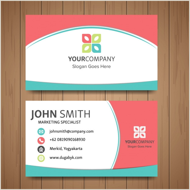 Cute Business Card Free Vector