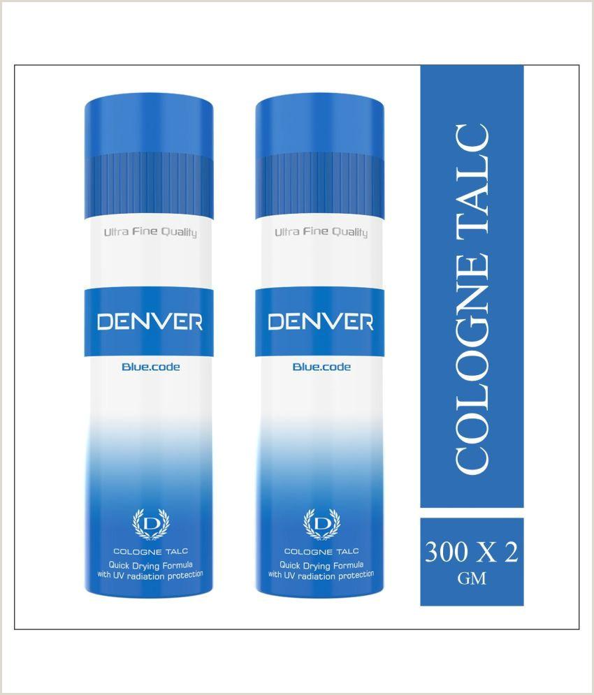 Denver Best Business Cards Denver Blue Code Talc 600 Gm Pack Of 2