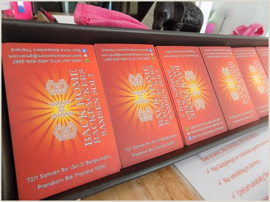 Design And Print Business Cards At Home Aoi Sawadee Ka Picture Of Back Home Backpackers Bangkok