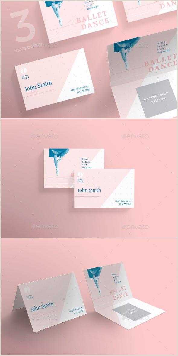 Design Business Card In Illustrator Ballet Dance Studio Business Card
