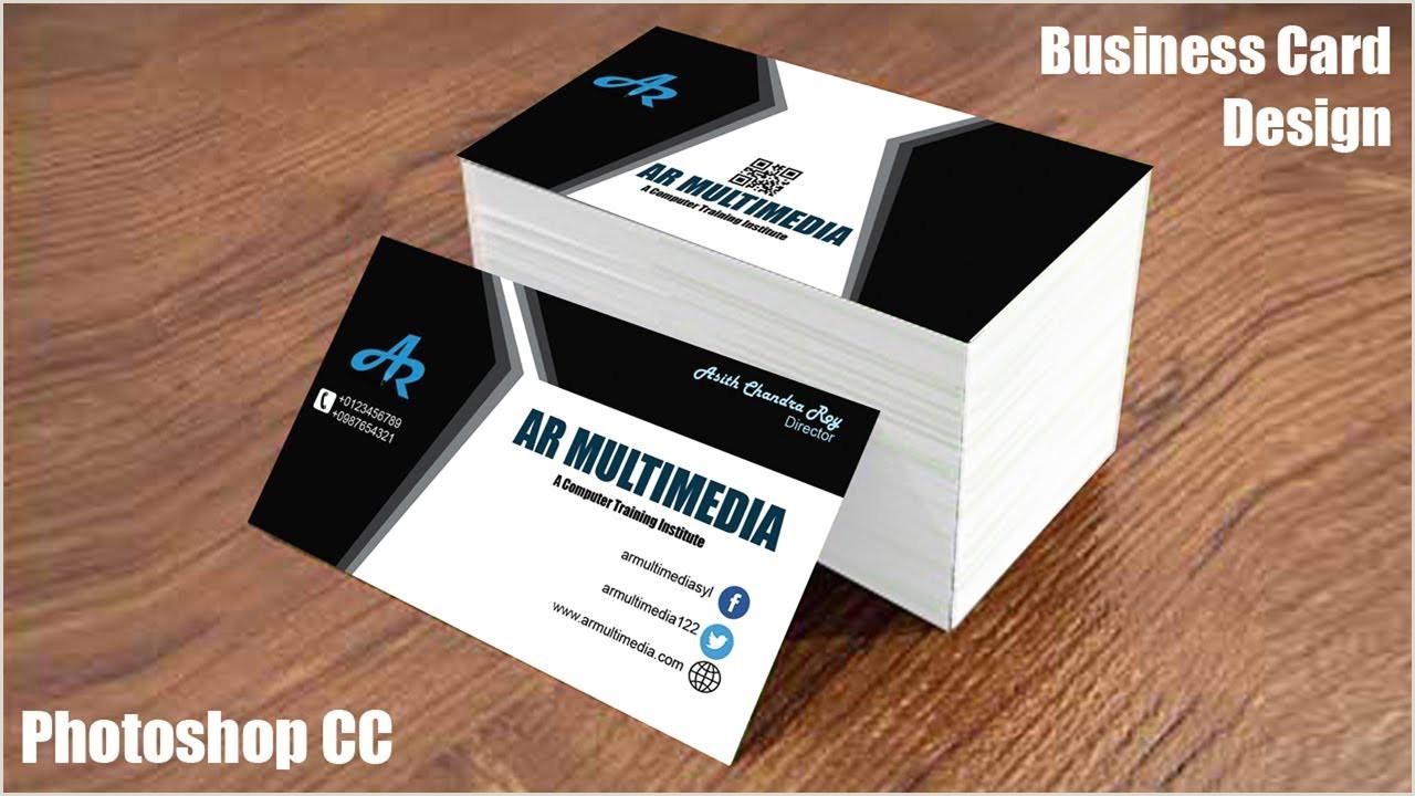 Design Business Card In Illustrator Creative Business Card Design In Illustrator Cc 2018 Modern
